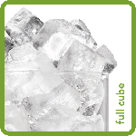 Full Cube Type Ice from Ice-O-Matic